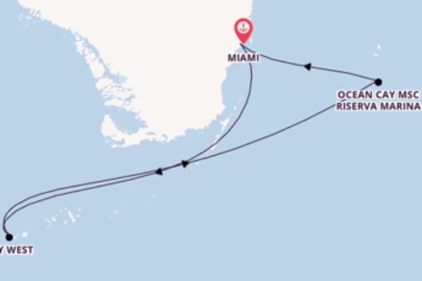 Viaggio da Miami verso Key West