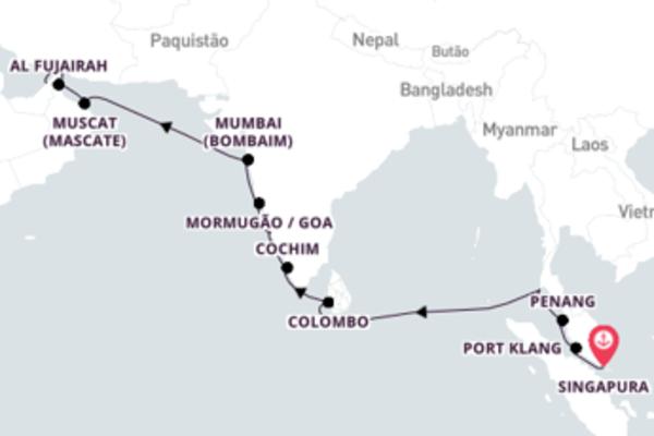 Navegue a bordo do Seven Seas Mariner em 19 dias