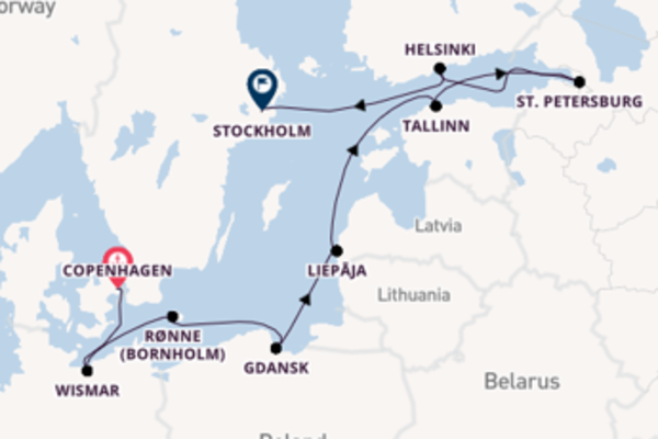 Cruise with Oceania Cruises from Copenhagen to Stockholm
