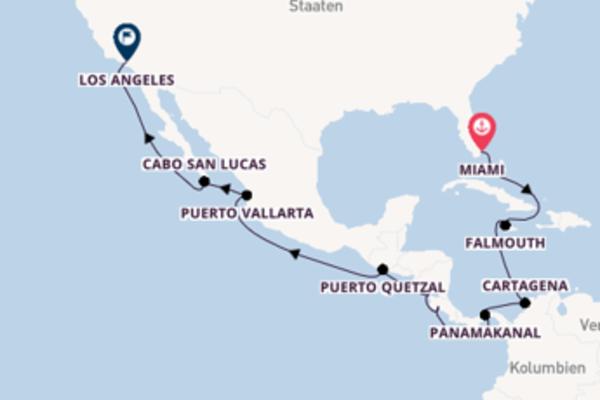Erkunden Sie 17 Tage Puerto Quetzal und Los Angeles
