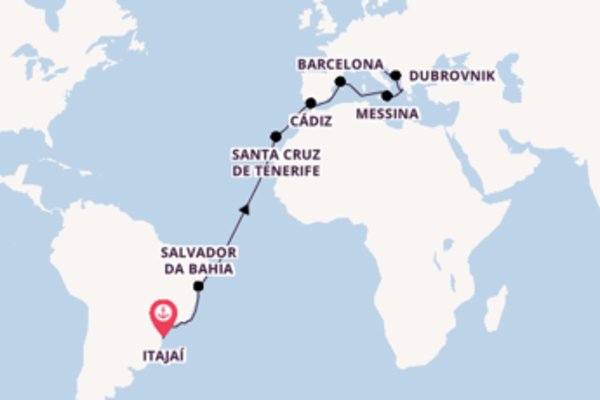 23-daagse cruise vanaf Itajaí