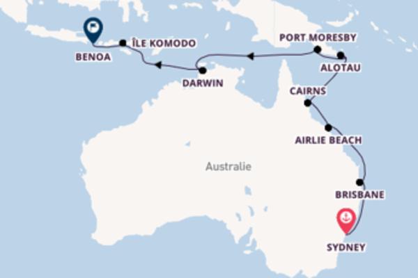 19 jours pour découvrir Cairns au départ de Sydney