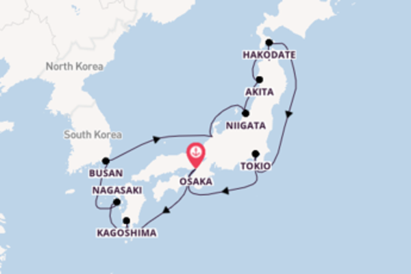 Cruise met Silversea naar het magische Osaka