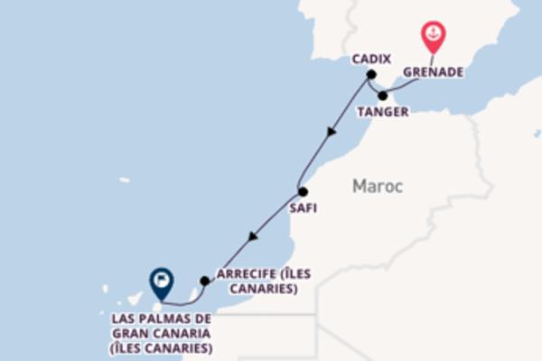 Tanger depuis Grenade pour une croisière de 8 jours