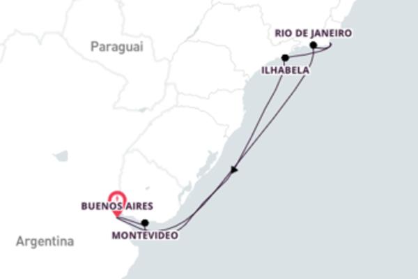 Cruzeiro de 9 dias com o Costa Pacifica
