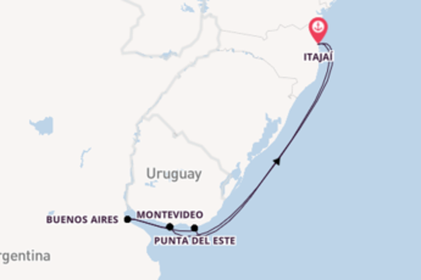 Cruising from Itajaí via Buenos Aires