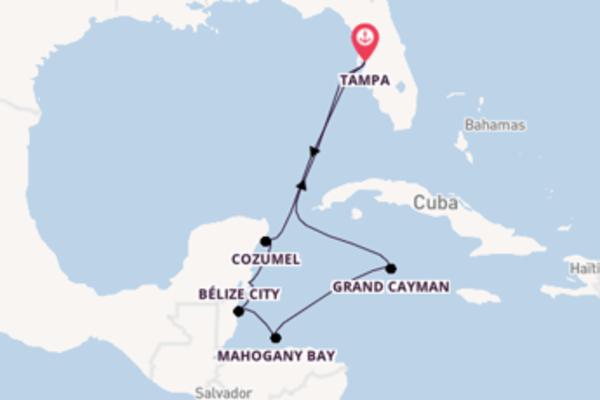 Mahogany Bay depuis Tampa pour une croisière de 9 jours