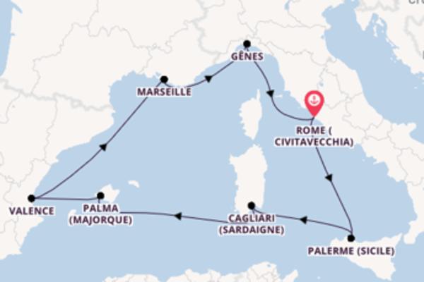 8 jours de navigation à bord du bateau MSC Seaview depuis Rome (Civitavecchia)