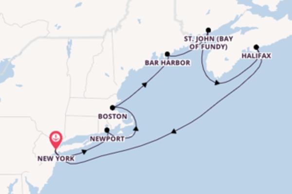 Kreuzfahrt mit der Sky Princess nach New York