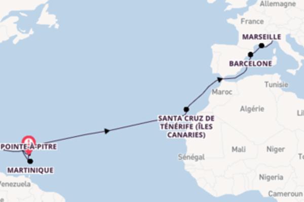 22 jours pour découvrir Road Town (Îles Vierges britanniques) à bord du beateau Costa Magica