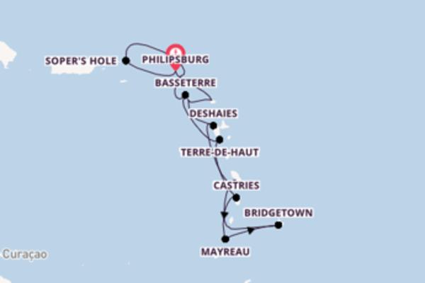 Cruising from Philipsburg via Deshaies