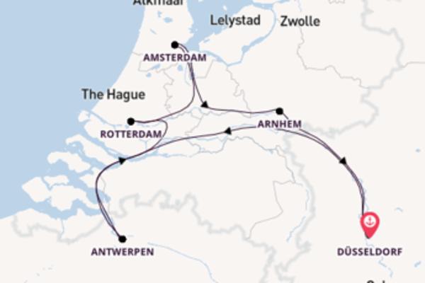 Nieuwjaar in Amsterdam op de Rhein Prinzessin