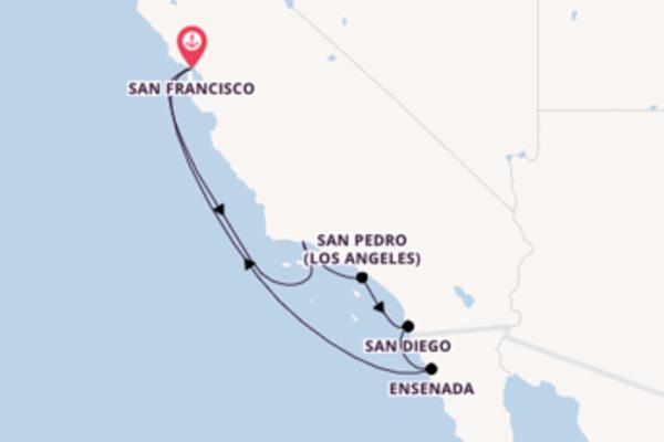 Lasciati incantare da San Pedro (Los Angeles) arrivando a San Francisco