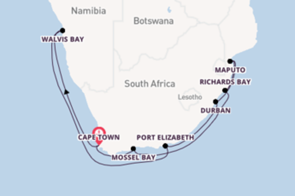 16 day cruise with the Seven Seas Voyager to Cape Town
