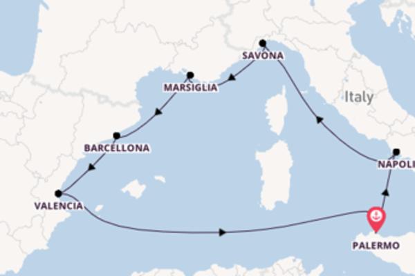 Rilassante crociera di 8 giorni a bordo di Costa Fortuna