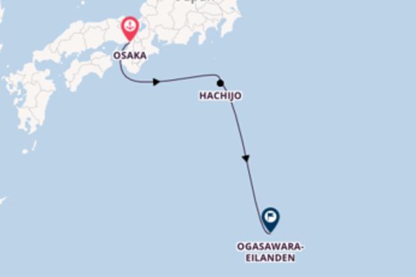 Cruise naar Guam/Agana via Hachijo