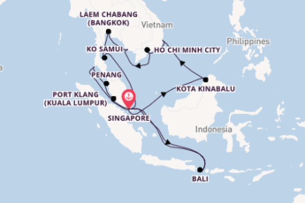 Journey with Princess Cruises from Singapore
