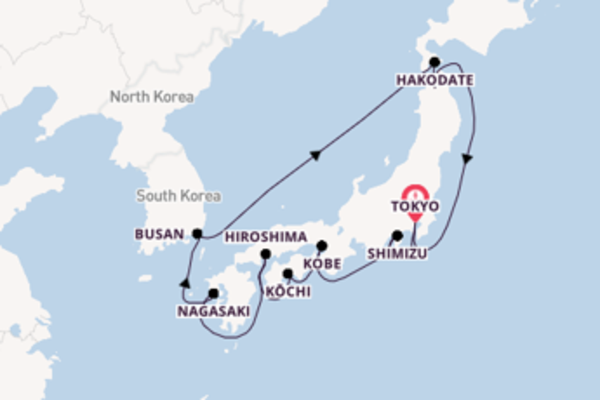 Trip with Celebrity Cruises from Tokyo