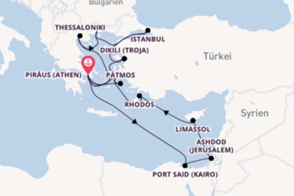 15 Tage Mittelmeer Kreuzfahrt