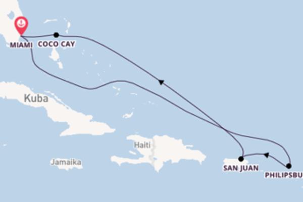 In 8 Tagen nach Miami über San Juan