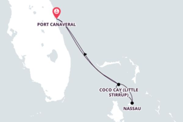 A bordo do Mariner of the Seas em um cruzeiro de 5 dias