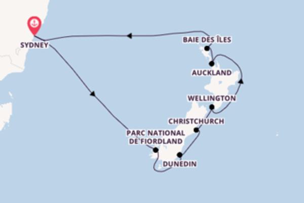 Wellington et une fantastique croisière depuis Sydney