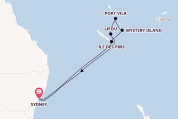 Einmalige Kreuzfahrt über Mystery Island ab Sydney