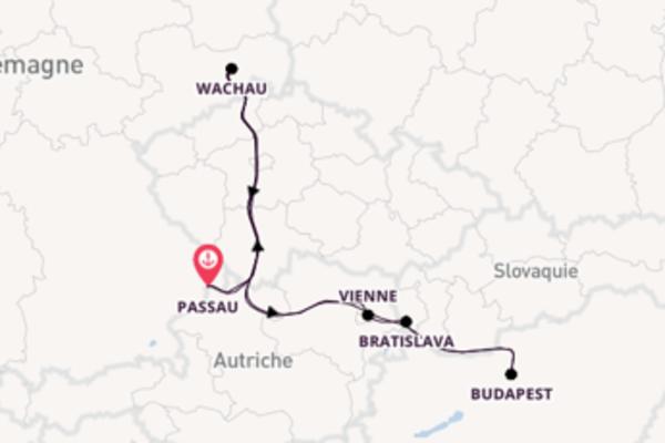 8 jours de navigation à bord du bateau DCS Amethyst depuis Passau, Allemagne