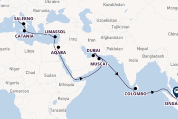 Dal Mar Mediterraneo all'Oceano Indiano in 28 giorni