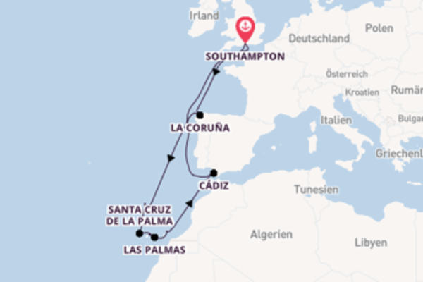 17 Tage Kanarische Inseln Kreuzfahrt