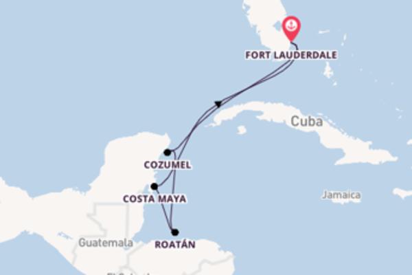 Navigando da Fort Lauderdale verso Cozumel