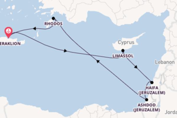 Cruise naar Heraklion via Ashdod