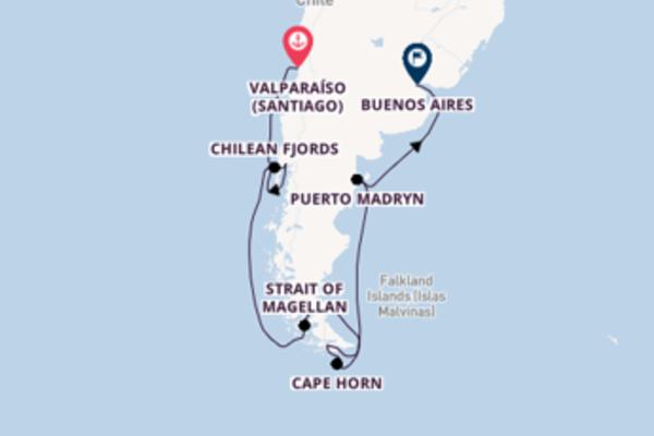 13 day journey from Valparaíso (Santiago)