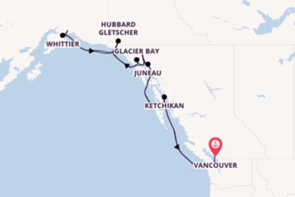 15 Tage Alaska Kreuzfahrt