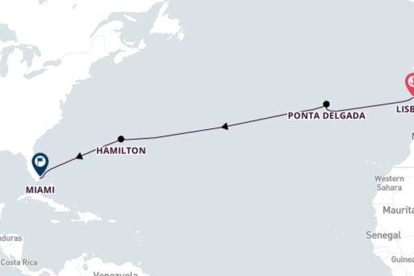 12-Day Transatlantic Cruise from Portugal to Miami