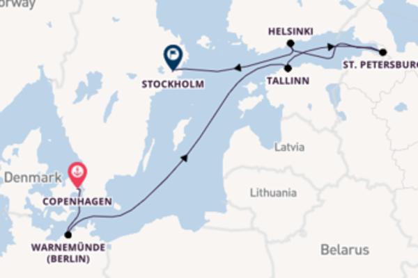 Cruising from Copenhagen with the Marina