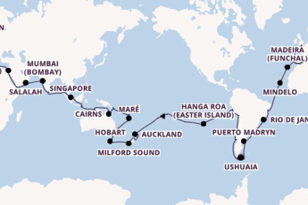125 day voyage to Southampton (London) from Genoa