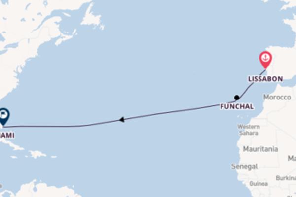 Cruise naar Miami via Funchal