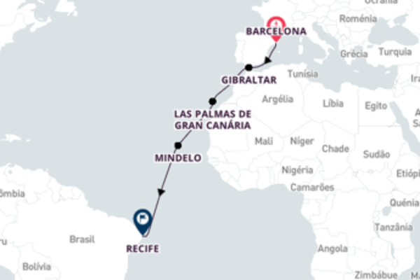 Navegando por 13 dias a bordo do Sovereign