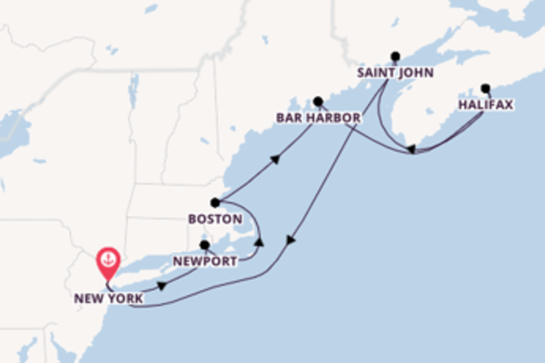 8 day voyage from New York