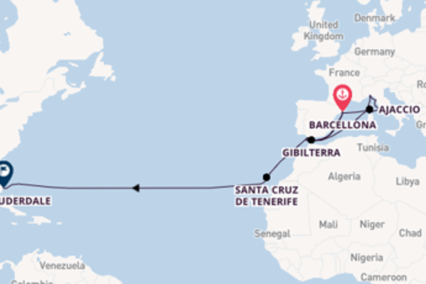 Viaggio da Barcellona verso Civitavecchia