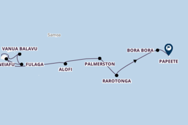 Cruising from Lautoka to Papeete
