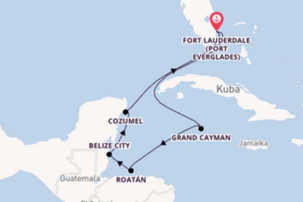 In 8 Tagen nach Fort Lauderdale über Grand Cayman