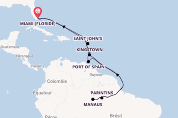 Croisière de 25 jours vers Miami (Floride) avec Oceania Cruises