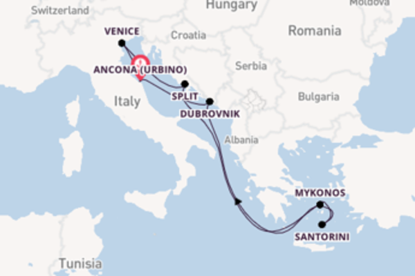 Trip from Ancona , with the MSC Sinfonia