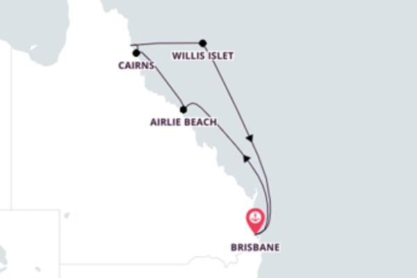 Encantador cruzeiro de 8 dias até Brisbane