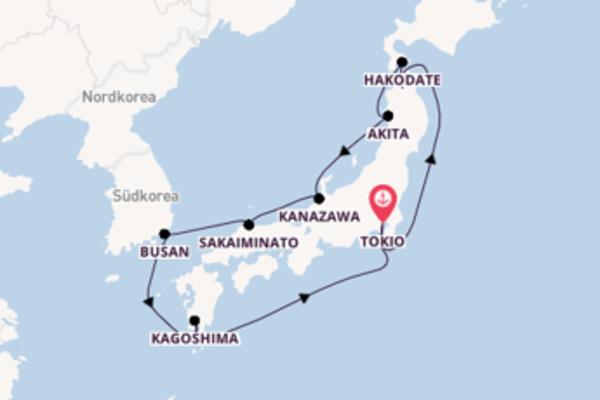 Tokio und Aomori erleben