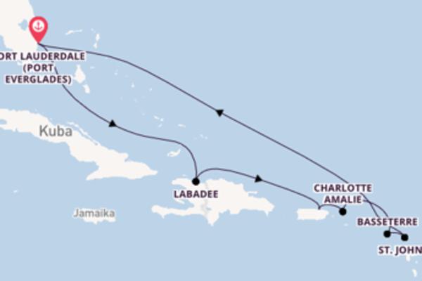 Fort Lauderdale und San Juan genießen