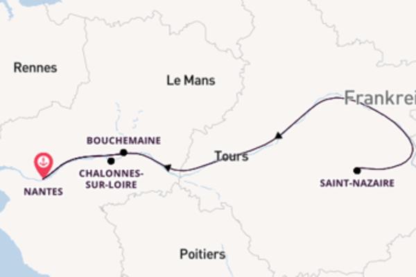 Großartige Reise ab Nantes
