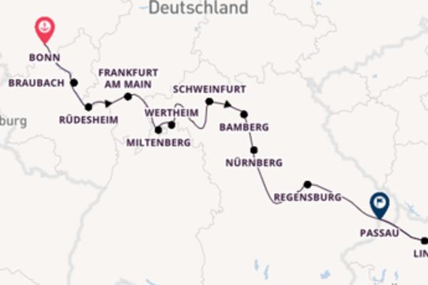 In 11 Tagen nach Passau über Koblenz